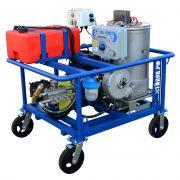 Аппарат высокого давления с подогревом и электроприводом и дизельным подогревом воды