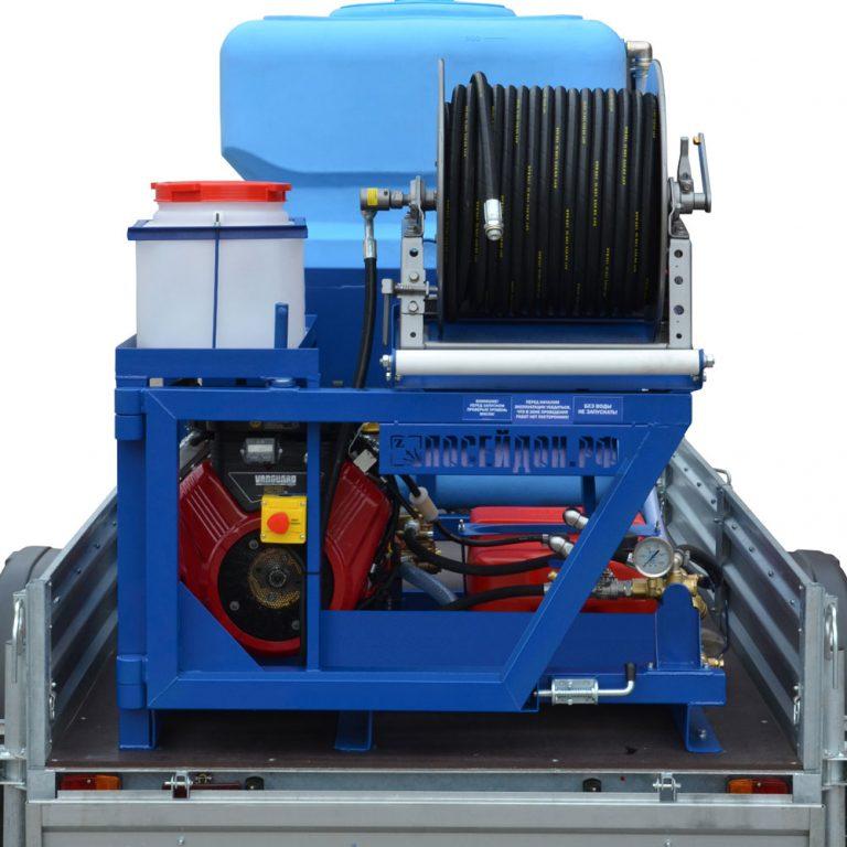 Sewer Flushers for Mounting of Poseidon B24S series,  100-360 bar, 23/24/27 hp, 21–75 l/min