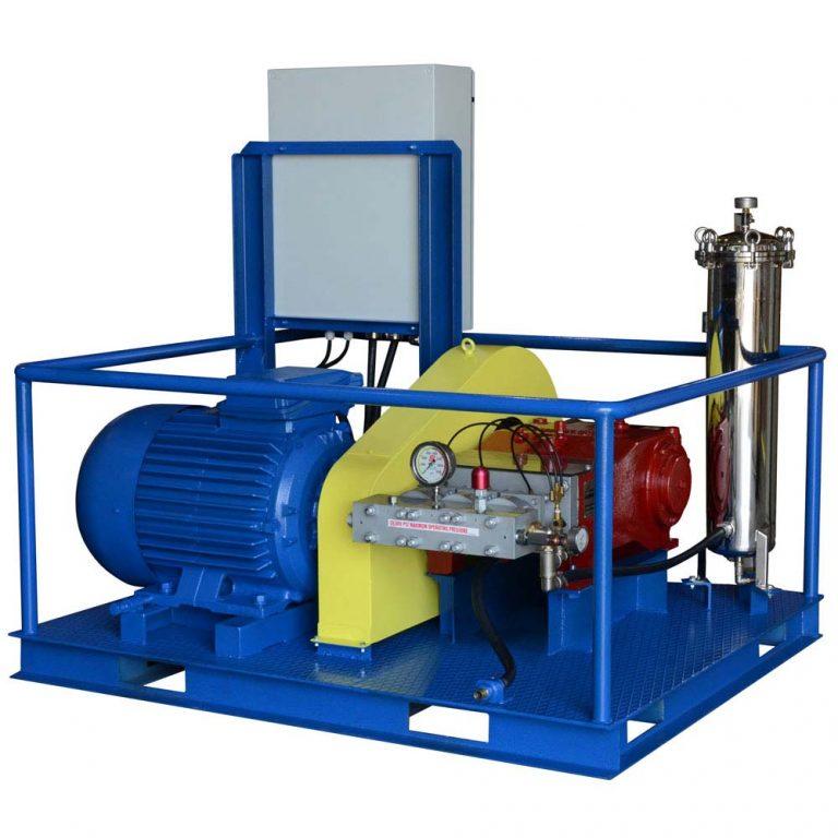 Poseidon E250US apparatus series, 250 kW, 550-2,800 bar, 45-225 l/min