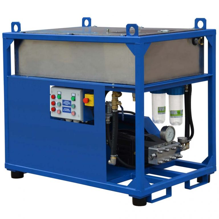 Poseidon E30Cube apparatus series, 30 kW (380 V), 500-1,000 bar, 15-30 l/min