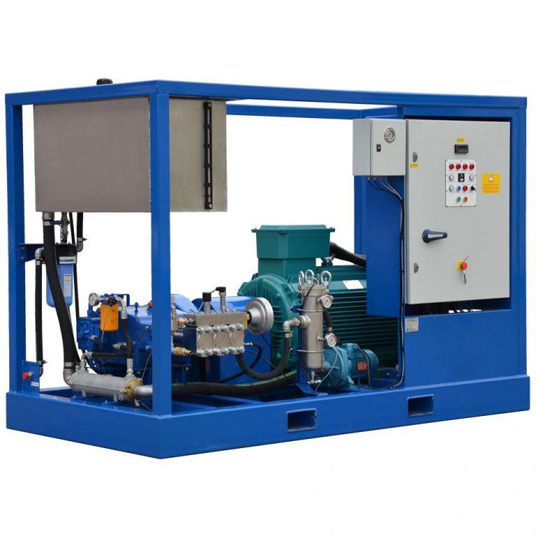 Poseidon E75Cube apparatus series, 75 kW, 500-2,500 bar, 13-76 l/min