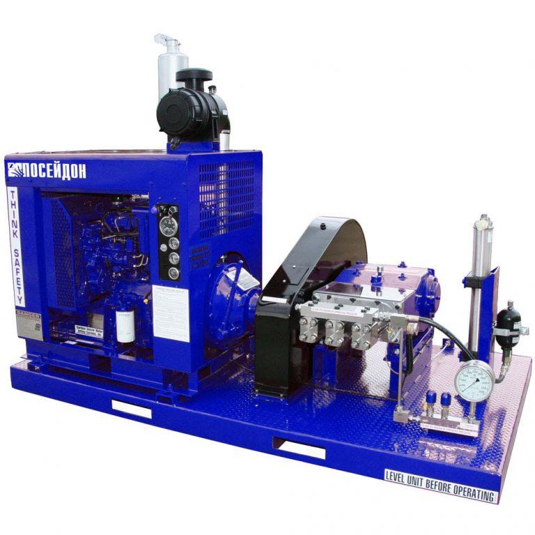 Poseidon DT125 apparatus series, 125 hp, 1,032-2,800 bar, 15-38 l/min