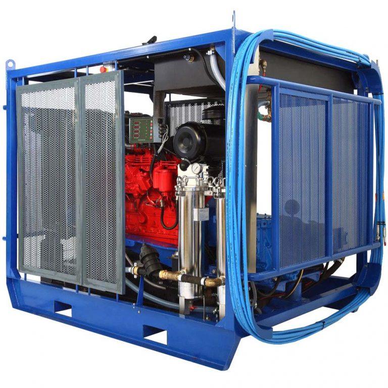 Poseidon D130Cube apparatus series, 125 hp, 500-2,500 bar, 13-76 l/min