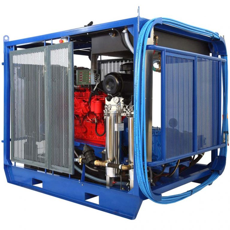 Poseidon DT170Cube apparatus series, 170 hp, 700-2,800 bar, 15-77 l/min