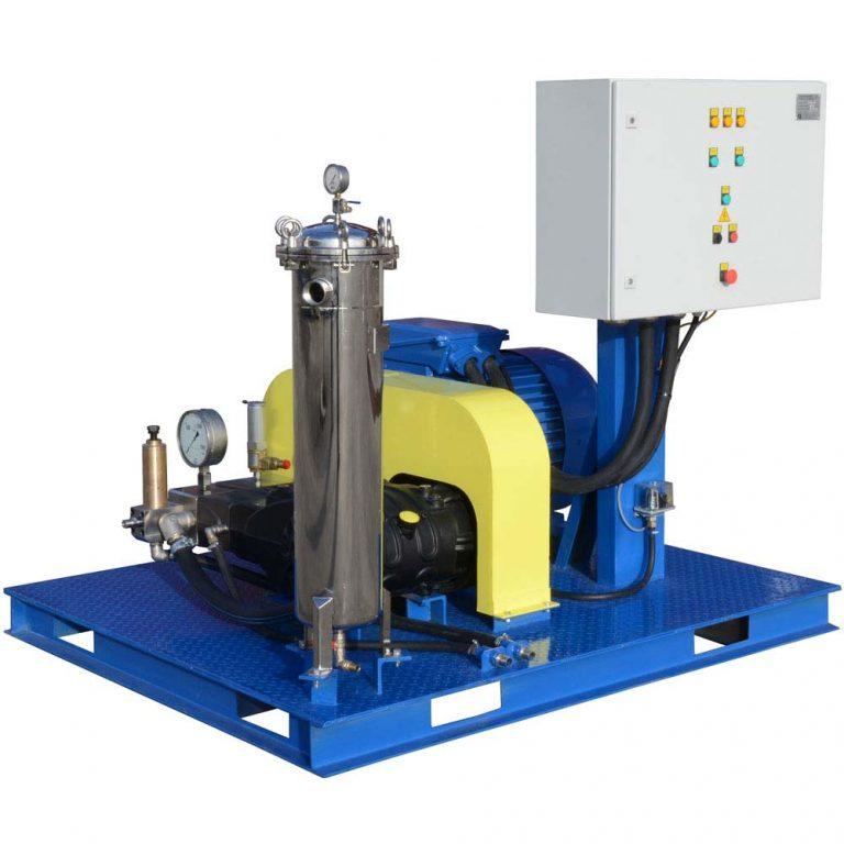 Poseidon E75 apparatus series, 75 kW, 500-1,500 bar, 26-76 l/min