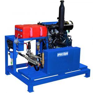 Poseidon DT45S1 apparatus series, 45 hp, 500-1,000 bar, 15-30 l/min