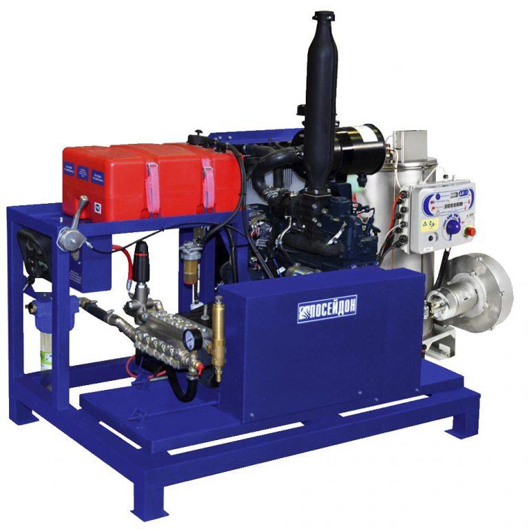 Poseidon DT45S1-500-30-Th, 45 hp, 500 bar, 30 l/min, with heating