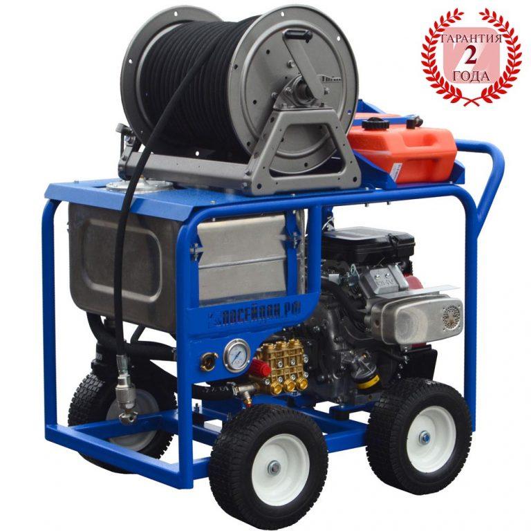 Series of  Poseidon В24-Tk apparatus with с buffer water tank, 23/24/27 hp, 100 – 200 bar, 45 – 75 l/min