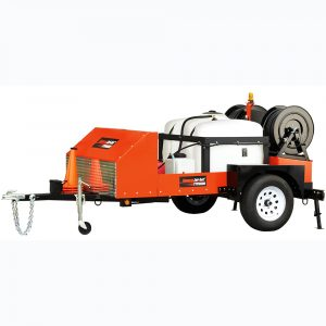 Sewer flusher on trailer, Honda, 690 hp, 176 bar, 50 l/min (General Pipe Cleaners, USA)