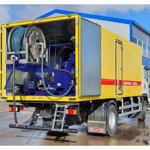 Series of Poseidon DT170S apparatus, 170 hp, 150 – 400 bar, 154 – 406 l/min