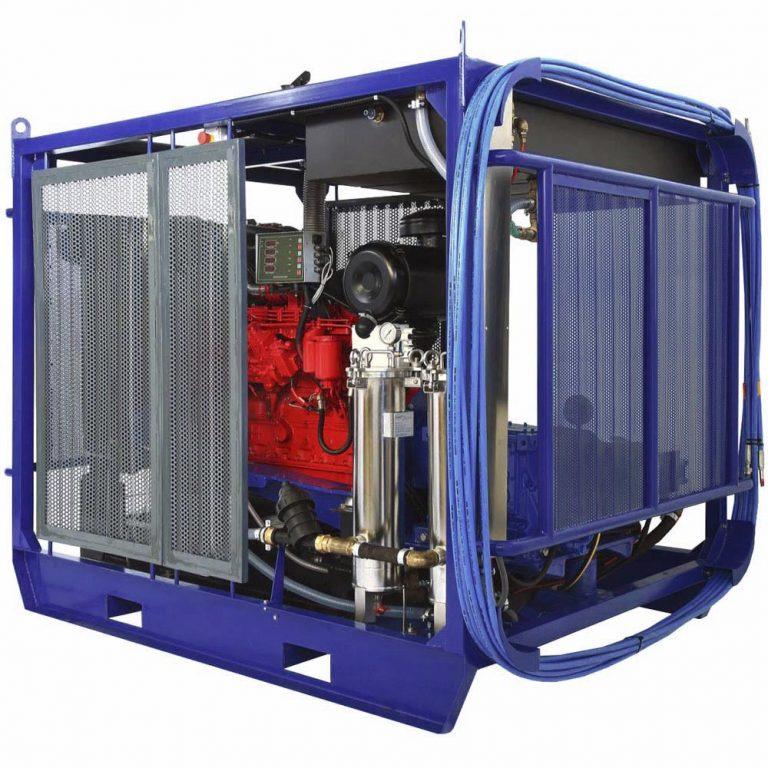 Poseidon DT200Cube apparatus series, 200 hp, 700-2,500 bar, 25-100 l/min
